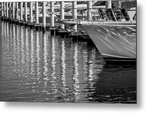 Marina Metal Print featuring the photograph Harbor Reflections by James Woody