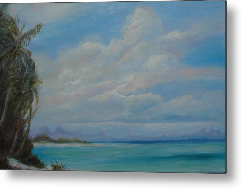Seascape Metal Print featuring the painting Hawaiian Dreams by Phyllis OShields