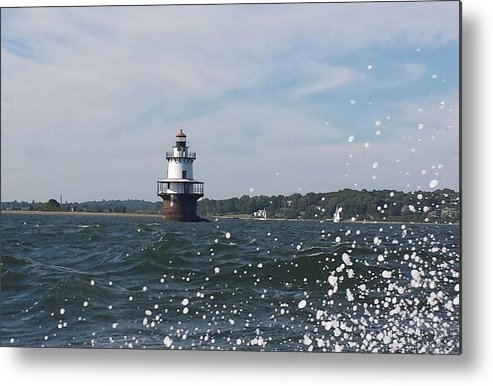 Lighthouse Metal Print featuring the photograph Hog Island Shoal Lighthouse by Diane Berard