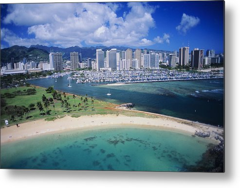 Above Metal Print featuring the photograph Honolulu, Oahu by Dana Edmunds - Printscapes