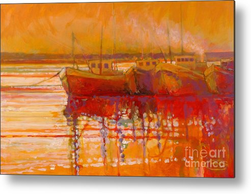 Boats Metal Print featuring the painting Hot And Steamy by Kip Decker