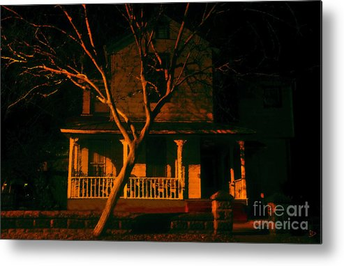 Haunted House Metal Print featuring the painting House On Haunted Hill by David Lee Thompson