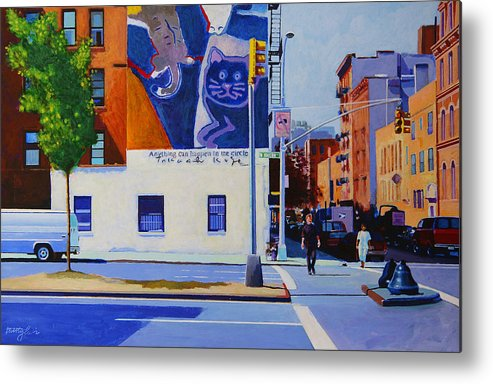 Houston Street Metal Print featuring the painting Houston Street by John Tartaglione