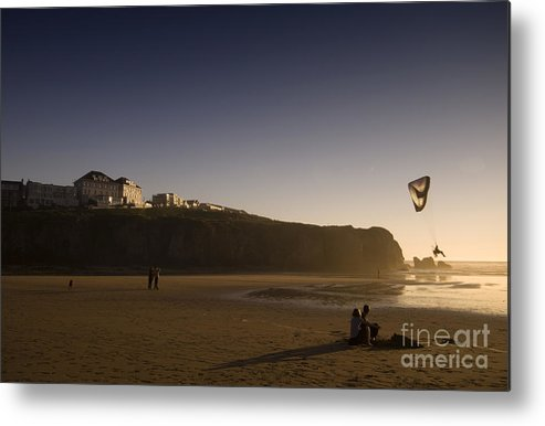 Cornwall Metal Print featuring the photograph in the Cornwall by Angel Ciesniarska