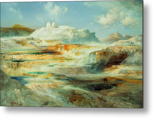 Moran Metal Print featuring the painting Jupiter Terrace Yellowstone by Thomas Moran
