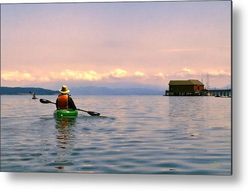 Kayak Metal Print featuring the photograph Kayaking Penn Cove by Rick Lawler