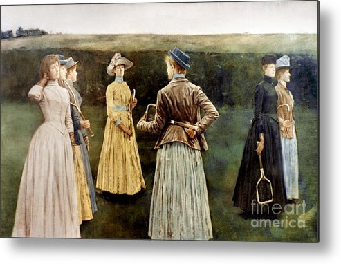 1889 Metal Print featuring the photograph Khnopff: Memoires, 1889 by Granger