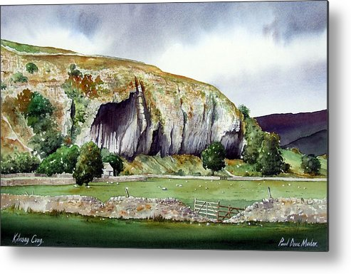 Landscape Metal Print featuring the painting Kilnsey Crag by Paul Dene Marlor