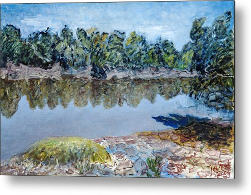Water Metal Print featuring the painting Kings River by Joan De Bot