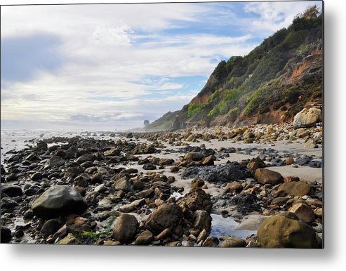 La Piedra State Beach Metal Print featuring the photograph La Piedra Shore Malibu Dusk by Kyle Hanson