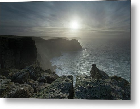 Pordenack Point Metal Print featuring the photograph Land's End, Cornwall, England by Krzysztof Nowakowski