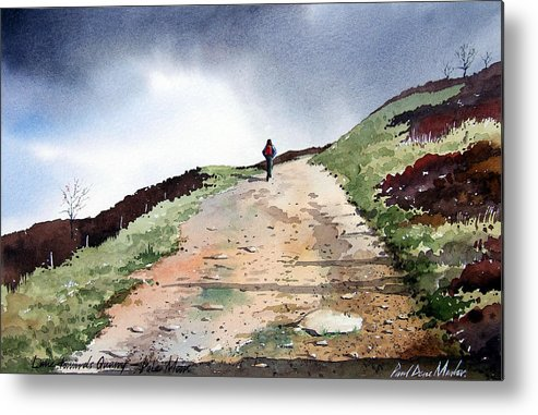 Landscape Metal Print featuring the painting Lane To Quarry Pole Moor by Paul Dene Marlor