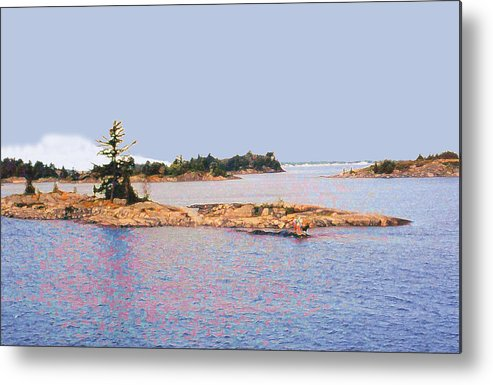 Island Metal Print featuring the photograph Little Island Ae Painting 2 by Lyle Crump