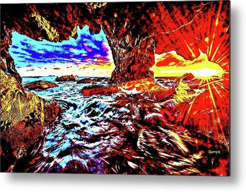 Malibu Metal Print featuring the painting Malibu Sunset by Don Barrett