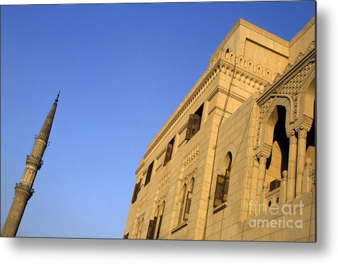 Africa Metal Print featuring the photograph Minaret And Exterior Of The Al-hussein Mosque by Sami Sarkis