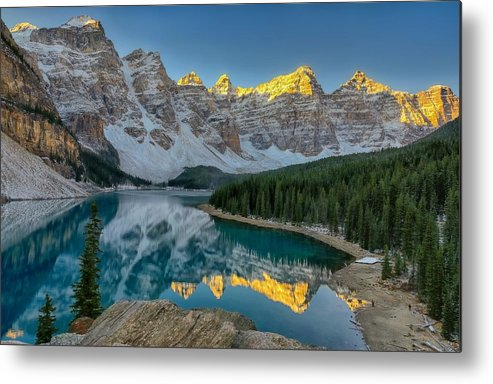 Lake Moraine Metal Print featuring the photograph Moraine Morning by Philip Kuntz