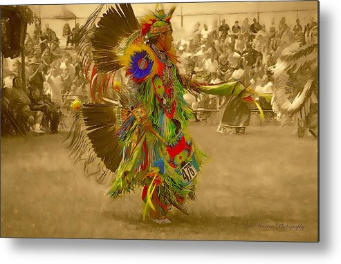 Indian Metal Print featuring the photograph National Championship Pow Wow - Grand Prairie, Tx by Dyle Warren