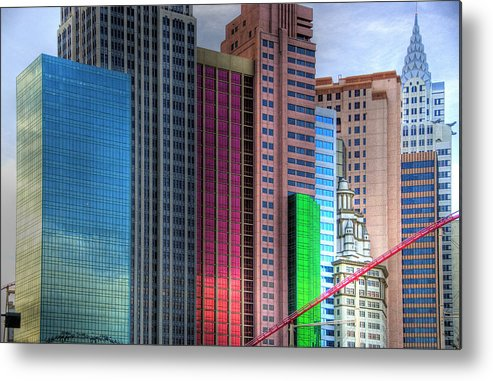 New York Metal Print featuring the photograph New York-new York - Las Vegas by Neil Doren