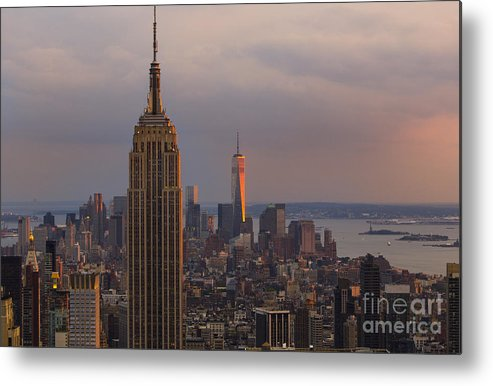 New York City Metal Print featuring the photograph New York Skyline by Keith Kapple