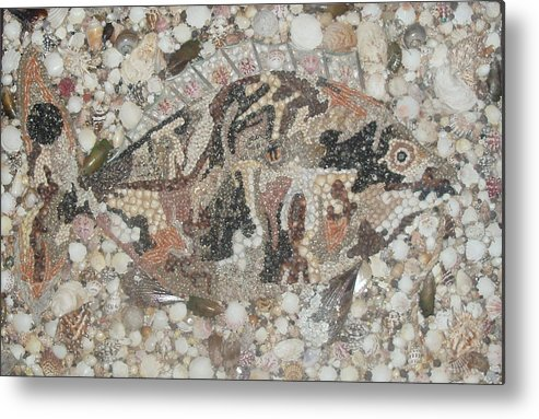 Seashells Metal Print featuring the mixed media Not A Piranha by Ben Sivells