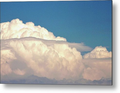 Thunderstorm Clouds Metal Print featuring the photograph Ominous Thunderstorm by Rose Webber Hawke