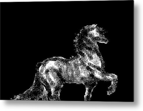 Horses Metal Print featuring the digital art Passage by Carole Boyd