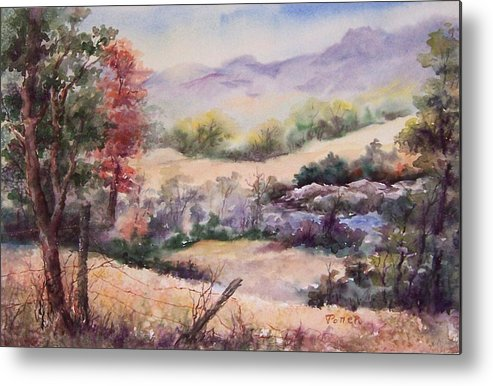 Fall Metal Print featuring the painting Pee Dee Creek by Virginia Potter