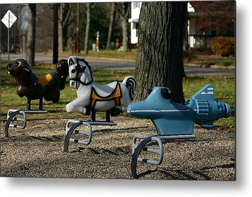 Playground Metal Print featuring the photograph Playground Rides by Vincent Duis