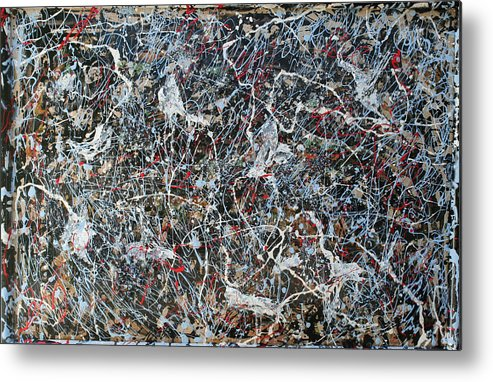 Metal Print featuring the painting Pollock's Ghosts by Biagio Civale