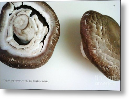 Mushrooms Metal Print featuring the photograph Portobello Mushrooms 2 by Jamey Balester