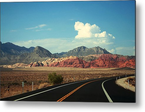 Las Vegas Metal Print featuring the photograph Red Rock by Wendy Fike