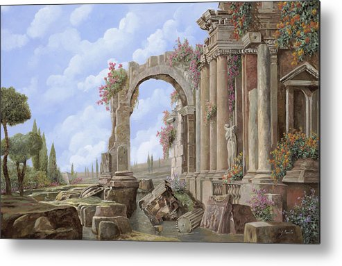 Arch Metal Print featuring the painting Roman Ruins by Guido Borelli