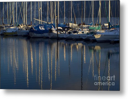 Mast Metal Print featuring the photograph Sailboat Reflections by Idaho Scenic Images Linda Lantzy
