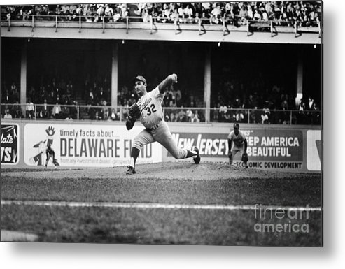 1966 Metal Print featuring the photograph Sandy Koufax (1935- ) by Granger