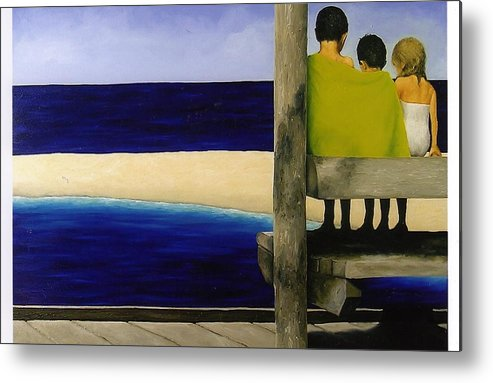 Seascape Metal Print featuring the painting Secrets by Trisha Lambi