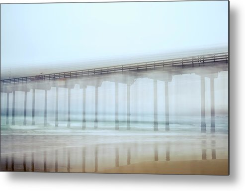 Pier Metal Print featuring the photograph Shaky Scripps by Joseph S Giacalone