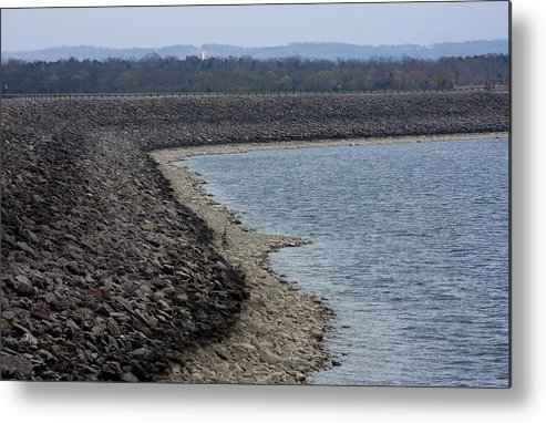 Table Rock Lake Branson Missouri Metal Print featuring the photograph Shoreline At Table Rock Lake by Gwen Vann-Horn