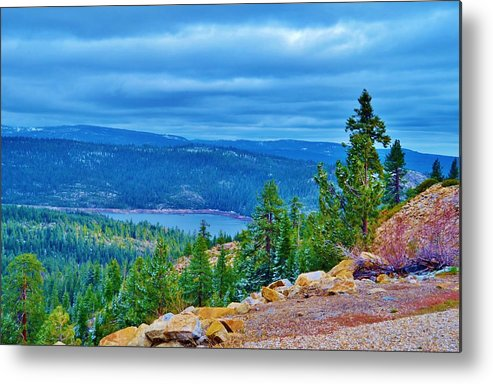 Sierras Metal Print featuring the photograph Sierras Before Snow Storm by Cherie Cokeley