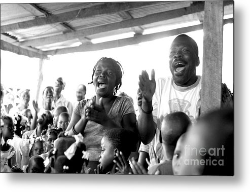 Haiti Metal Print featuring the photograph Singing Praise by Angie Bechanan