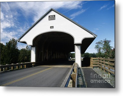 Bridge Metal Print featuring the photograph Smith Covered Bridge - Plymouth New Hampshire Usa by Erin Paul Donovan