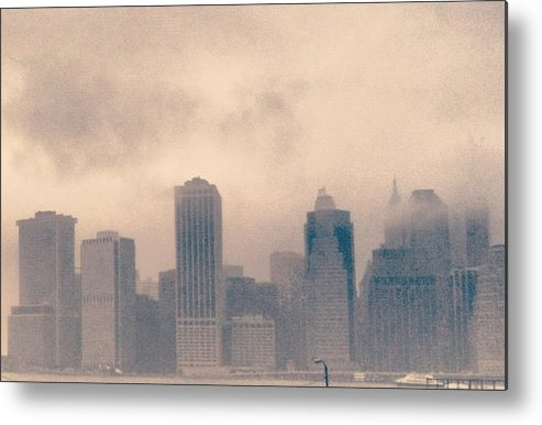 New York Metal Print featuring the photograph Smokey Cityscape by William North