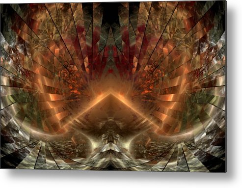 Sun Metal Print featuring the digital art Sol Invictus by Nirvana Blues