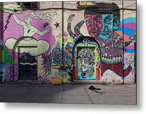 Street Art Metal Print featuring the photograph Street Art Wiiliamsburg Brooklyn by Robert Ullmann
