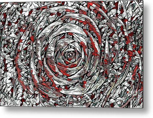 Abstract Metal Print featuring the photograph Succulent Rose by Joshua Roberts
