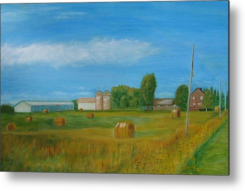Landscape Metal Print featuring the painting Sunny Day Summer by Patricia Ortman