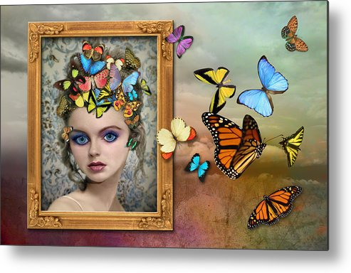 Girl Metal Print featuring the photograph Sylph II by Tammy Wetzel