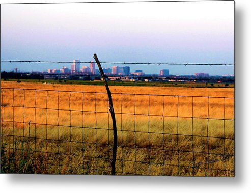 City Metal Print featuring the photograph Tall City Morning by Suzan Madison Casey