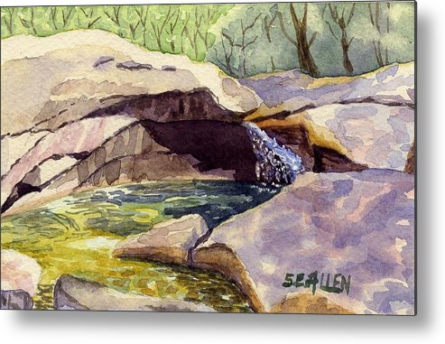 The Basin Metal Print featuring the painting The Basin by Sharon E Allen