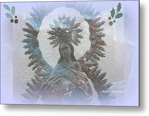 Holy Metal Print featuring the painting The Blessed Mother by Sherri's - Of Palm Springs