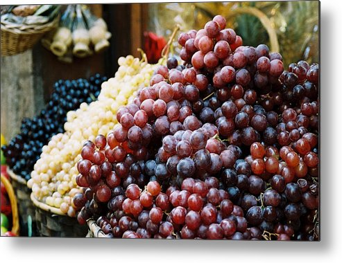 Grapes Metal Print featuring the photograph The Drink Of Italy by Kathy Schumann